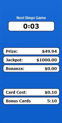 bingo cabin 75 ball bingo game payouts prizes jackpots