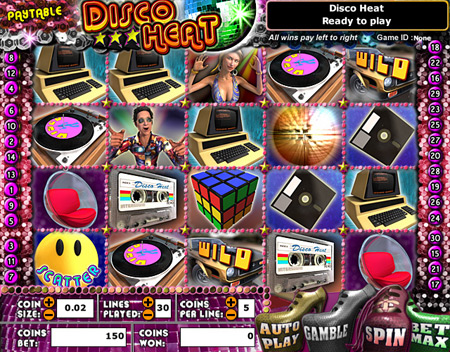 bingo cabin disco heat 5 reel online slots game