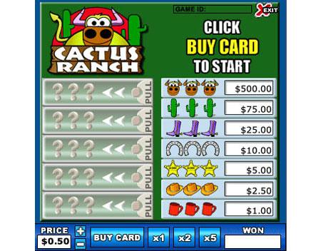 bingo cabin cactus ranch online instant win game
