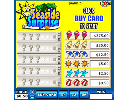 bingo cabin seaside surprise online instant win game