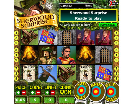 bingo cabin sherwood surprise 5 reel online slots game