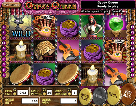 bingo cabin gypsy queen 5 reel online slots game