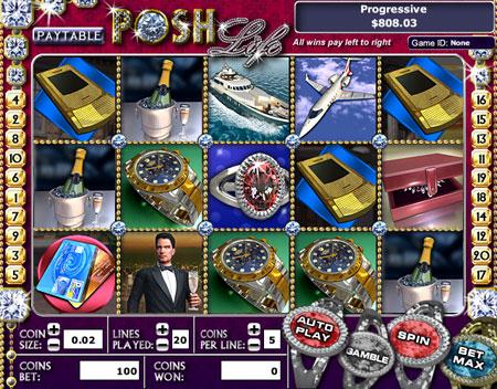 bingo cabin posh life 5 reel online slots game
