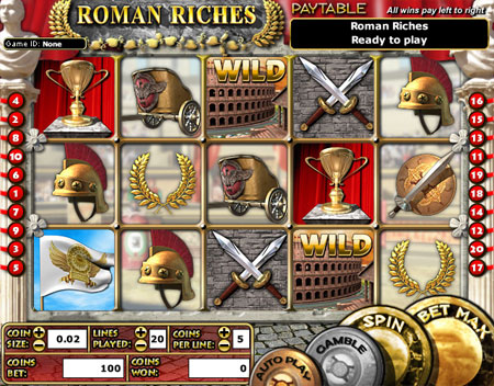 bingo cabin roman riches 5 reel online slots game